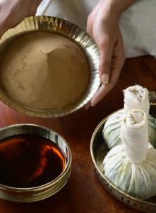Ingredienten voor Ayurvedische Massage Olie